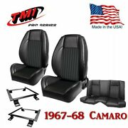 Tmi Pro-series Front/rear Seat Kit - With Brackets For 1967-1968 Camaro Coupe