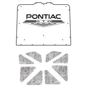 Hood Insulation Pad Cover For 73-77 Pontiac A-body Acoustihood Kit W/g-091 Gto