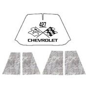 Hood Insulation Pad Heat Shield For 47-54 Chevrolet Truck Under Cover W/ceid-427
