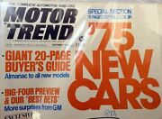 Motor Trend Magazine October 1974 Big Four Preview Baby Cadillac Lasalle