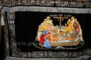 Altar Table Cover Embroidered Icon Taking Down From The Cross Icon To Order