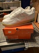 Vintage 2005 Nike Air Force One White Ice Cube Blue Size 11.5 306353-113 Authen
