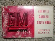 1969 Chevelle Ss, Camaro Ss Gm Factory Original Owners Manual Canadian 1st Ed