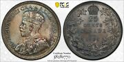 1935 25 Cents Canada Ms-64 Pcgs - Price Reduced