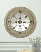 Large Round Mirror Hall Entry Table Antique Kitchen Decor Country Living Room