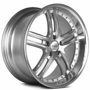 4 19 Staggered Xix Wheels X15 Silver Machine With Polished Lip Rims B6