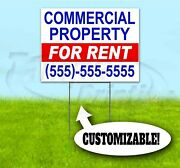 Commercial Property For Rent Custom 18x24 Yard Sign With Stake Bandit Realty