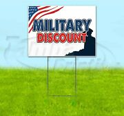 Military Discount 18x24 Yard Sign With Stake Corrugated Bandit Usa Business Army