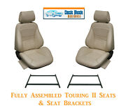 Standard Touring Ii Fully Assembled Seats And Brackets 1967 Mustang - Any Color