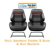 Mach 1 Touring Ii Fully Assembled Seats And Brackets 1969 Mustang - Any Color