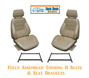 Deluxe/grande Touring Ii Fully Assembled Seats And Brackets 1970 Mustang Any Color