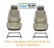 Deluxe Touring Ii Fully Assembled Seats And Brackets 1971-73 Mustang - Any Color