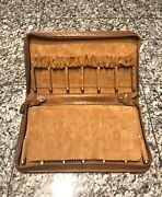 Sir Rondo's Italy Brown Leather Zip Around 12 Watch Travel Case