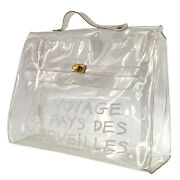 Hermes Vinyl Kelly 40 Hand Bag Clear Land039exposition 1997 Vintage Authentic Ab348