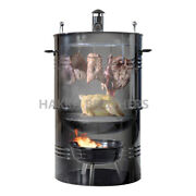 Hakka 18 Inch Outdoor Bbq Charcoal Smoker Barbecue Grill With Temperature Gauge