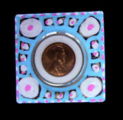 Ej Gold Orig Signed Trinket Box W Rare 1961-d Gem Beauty Us Coin In Pro Capsule