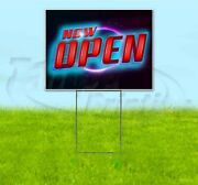 Now Open 18x24 Yard Sign With Stake Corrugated Bandit Usa Business Grand