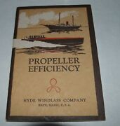 1931 Hyde Windlass Catalog Hyde Propellers And Marine Fittings Bath Maine 50 Pages