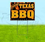 Texas Bbq 18x24 Yard Sign With Stake Corrugated Bandit Usa Business Barbecue