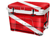Usatuff Wrap Decal Full Kit Fits Yeti Tundra 45 Cooler - Dive Flag Wd