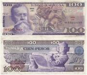 Mexico Nice Cien Or 100 Pesos Note July 5 1978 The Last Of 2 Dates For Type