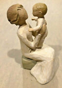 Vintage Willow Tree Grandmother And Child Figurine Mother's Day Abstract Christ