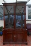 Gillow Solid Mahogany Astral Glazed Bookcase Free Shipping England