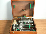 Old Vintage Lawrence And Mayor London Transit Brass Theodolite With Box Of 40's.