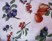 Highly Sought After Longaberger Rare Retired Fruit Medley Fabric - One Yard
