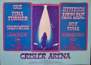 Ike And Tina Turner Ann Arbor 1971 Concert Poster Gary Grimshaw Very Rare