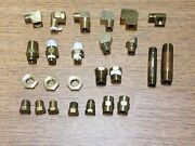 Brass Fitting -25 Pc. Lot - 1/8 And 1/4 Brass Pipe Fitting Lot