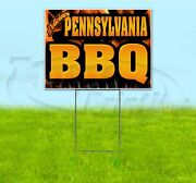 Pennsylvania Bbq 18x24 Yard Sign With Stake Corrugated Bandit Business Barbecue