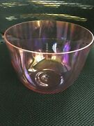 Alchemy Magic Purple Crystal Singing Bowl 2th Octave Lower Frequency Perfect B