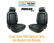 Classic Complete Seats And Bracket Kit Procar 80-1500-51 For 1965-1998 Mustang's