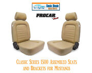 Classic Complete Seats And Bracket Kit Procar 80-1500-54 For 1965-1998 Mustangand039s