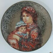 Edna Hibel Molly And Annie Mother's Day Collectors Plate