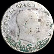 1823 Rd Spain 4 Reales Km 562.3 Foreign Silver Coin Seville Mint