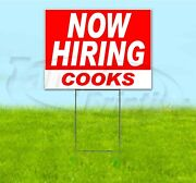 Now Hiring Cooks 18x24 Yard Sign With Stake Corrugated Bandit Usa Business