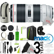 Canon Ef 70-200mm F/2.8l Is Iii Usm Lens + Cleaning Accessory Kit Mack Warranty