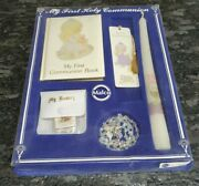 1991 Malco Precious Moments First Communion Book Candle Rosary Set New