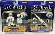 Space Saturn V And Astronaut 4d Puzzle Set