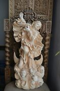 Wood Carved Hand Made Statue Sculpture Virgin Mary The Immaculate Conception