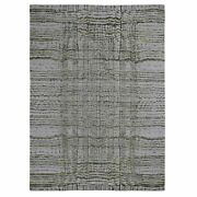 9and0392x11and0398 Fine Jacquard Handloomed Modern Wool And Silk Oriental Rug G48831