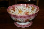 Furnival Centerpiece 1800and039s Punch Bowl England Transferware Pottery Stoneware