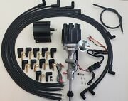 Ford Thunderbird 1955-57 292 312 Tach Drive Hei Distributor + Wires + Black Coil