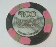 River City Casino New Orleans 100.00 Cancelled Chip Great For Any Collection