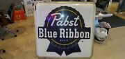 Large Vintage Pabst Blue Ribbon Beer Sign 50 X 50 X 8 One Sided
