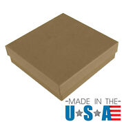 Brown Kraft Cotton Filled Gift Boxes Jewelry Cardboard Box Lots Of 122550100