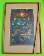 Origand039l Large Maxfield Parrish Edison Mazda Lamp Egypt Poster 25 X 36 Framed