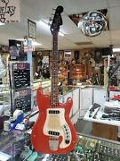 Hagstrom Bass Guitar Old Vintage Red Vinyl Body Parts Or Repair Body Neck More +
